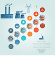 industrial infographic 6 vector image