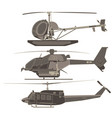 helicopters set cartoon transport airplane vector image