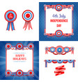 independence day holiday set vector image