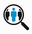 magnifying glass search people vector image