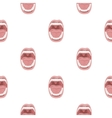 Mouth icon in cartoon style isolated on white vector image