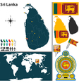 Sri Lanka map world vector image