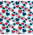 usa heart pattern vector image