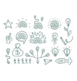 Set graphic elements idea brain creative vector image