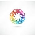 Team symbol Multicolored hands vector image vector image