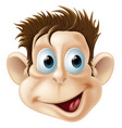 laughing happy monkey face cartoon vector image vector image