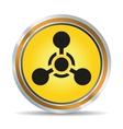 Chemical hazard icon vector image