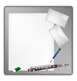 A Piccolo Lying on A Blank Page and Envelope vector image vector image