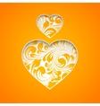 Orange heart simbol vector image vector image