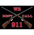Warning sign with guns vector image vector image