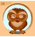 Tricky brown owl cartoon series vector image