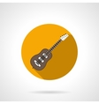 Acoustic guitar round color icon vector image