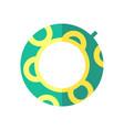 coloured of a swimming circle vector image