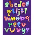 Lower case comic alphabet vector image