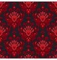 Seamless damask flower pattern vector image