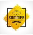 Summer sale banner online shopping on grunge brush vector image