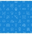 Winter sport seamless pattern line icon vector image