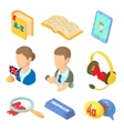 Learning foreign languages icons set cartoon style vector image