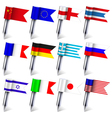 Flag count set vector image vector image