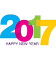 Happy New Year with colorful numeric set isolated vector image