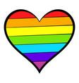 rainbow heart icon icon cartoon vector image