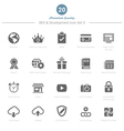 Set of SEO and Development icons Set 3 vector image vector image