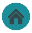 Home flat soft blue colors round button vector image
