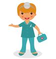 Cute little nurse vector image
