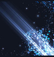 bright abstract blue light shimmering background vector image