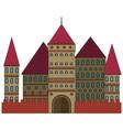 fabulous castle vector image