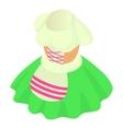 German national dress icon cartoon style vector image