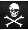 Jolly Roger with eyepatch and crossbones logo vector image
