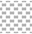 Letter seamless pattern vector image