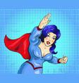 pop art of superwoman vector image