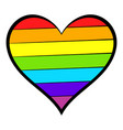 rainbow heart icon icon cartoon vector image