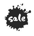 sale inside ink blot vector image