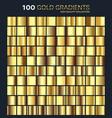 goldgolden gradientpatterntemplateset of vector image