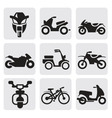 motorcycles and bicycles set vector image