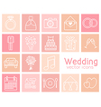 Set of wedding icons vector image