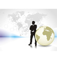 silhouette of businessman vector image vector image