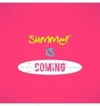 surfing summer lettering inspirational vector image
