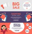 Big Sale Shopping Special Offer Set of Flat Design vector image