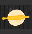dough with rolling pin flat vector image