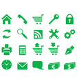 set of simple icons for decoration and design vector image