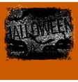 Halloween typography with pumpkins and bats vector image vector image