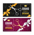 grand opening banners invitation set vector image