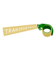 Adhesive Tape Dispenser With A Word Transportation vector image