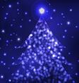 living christmas tree vector image