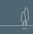 Logo of cypresses in minimal flat style line vector image