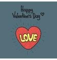 Love cartoon explosion Heart typography vector image